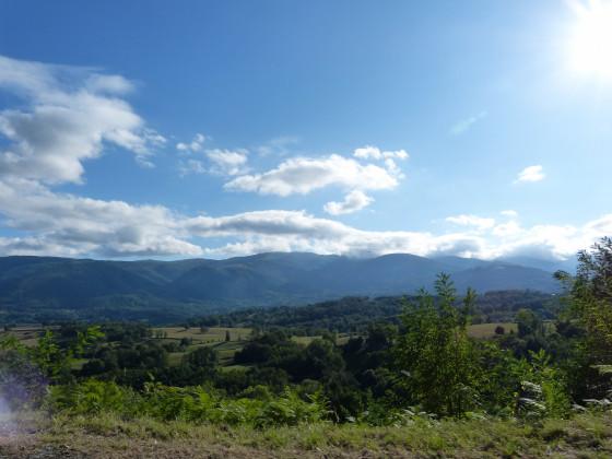 Die Pyrenäen in Richtung Andorra