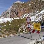 Passstraße auf den Mangart