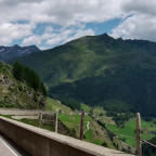 Von der Helmkamera der schöne Ausblick beim fahren aufs Timmelsjoch